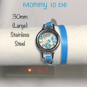 Jewelry - Mommy To Be (Boy) Stainless Locket Wrap